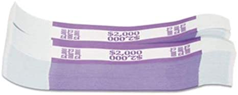 3000 SELF Sealing Purple $2000 Currency Straps Money Bill Bands Band #pchbill
