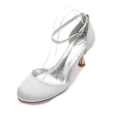 Boda De US8 Heelivory Champán amp;Amp; Rubí CN39 Wedding Bowknot Mujeres'S Verano Las Noche Shoes Vestido EU39 Azul Satin UK6 Primavera Rhinestone Plana Confort zHnZqpx0