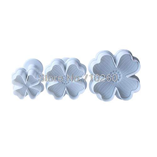 - 1 Set 3pcs/set lucky clover shaped cake cookies machine plunger paste sugarcraft decorating tools 020071
