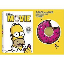 Amazon Com The Simpsons Movie Widescreen Limited Edition Dvd Simpsons Movie T Shirt Gift Set Movies Tv