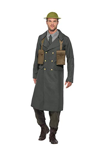 Smiffys WW2 British Office Costume, with Trench Coat for $<!--$30.19-->