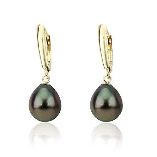 14K-yellow-gold-90-100mm-High-Luster-Baroque-Tahiti-Cultured-Pearl-Lever-back-Earrings