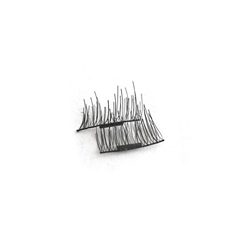 OMfeng 4pcs 1 Pair Magnetic Eye Lashes No Glue Reusable 3D Mink False Magnet Eyelashes Extension