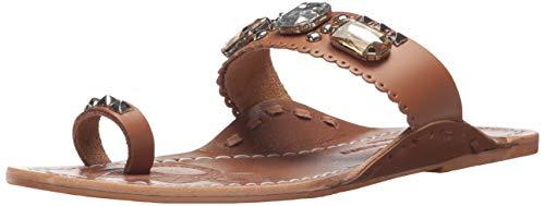 (Chinese Laundry Women's JADA Flat Sandal TAN Leather 6.5 M)