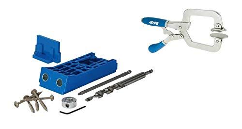(New Kreg Tool Company - Kreg Tool Company KJHD Jig HD and Kreg KHC-PREMIUM Face Clamp)