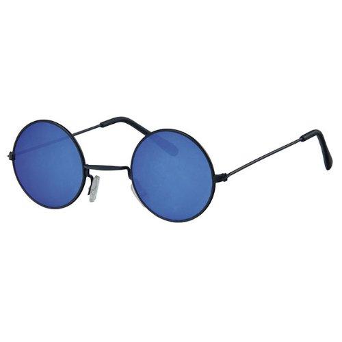 Gafas de sol de alta calidad espejadas, redondas con marco ...