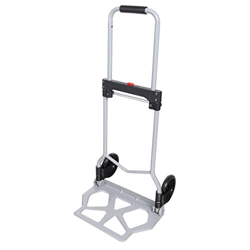 Folding Hand Truck/Assisted Hand Truck/Cart 220lbs Lightweight Portable Fold UpDolly Foldable Wheelsfor Luggage, Personal, Travel, Auto, Moving and Office Use by Elomes (Image #3)