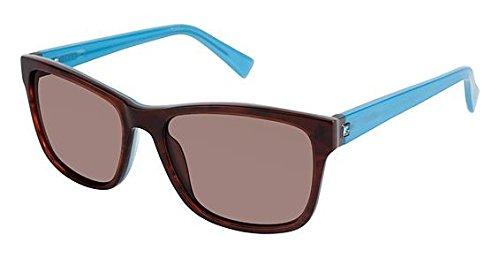 Nicole Miller Waterside Sunglasses - Frame Brown Horn/Blue, Lens Color Dark Brown, Size ()