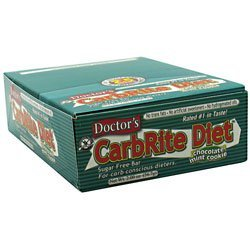 Doctor's CarbRite Sugar Free Bar - Chocolate Mint Cookie,...