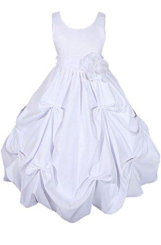AMJ Dresses Inc Big Girls' Satin Flower Girl Communion Dress