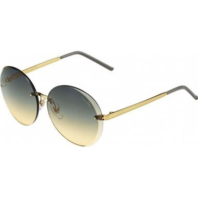 Gucci GG4247/S Sunglasses-0001 Yellow Gold (QJ Amber Gray Ds Lens)-59mm by Gucci