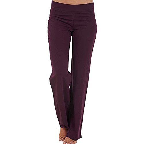 Women's Soccer Training Pants ❤ LONGDAY Power Flex Yoga Pants Tummy Control Workout Non See-Through Bootleg Yoga Pant -