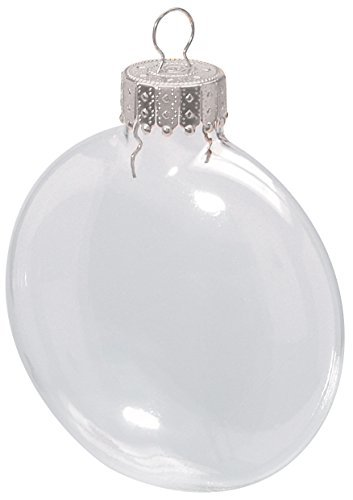 Clear Glass Disc (Darice 2.6 Inches Clear Disc Glass Ornaments - Pack of 6)