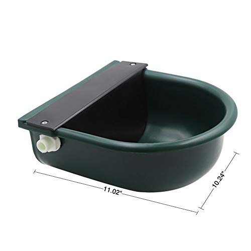 MACGOAL Automatic Waterer Bowl with Float Valve and Drain Plug, Large Dog Bowl for Livestock Horse Cattle Goat Sheep Pig by MACGOAL (Image #5)