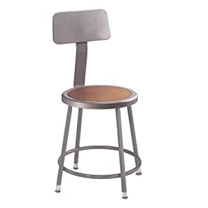 National Public Seating Adjustable Shop Stool With Back   27in., 300 Lb.  Capacity, Model# 6218HB