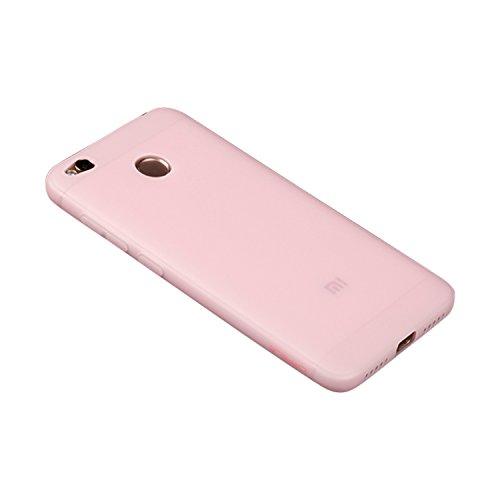 RAMCASE Funda Xiaomi Redmi 4X Delgada de TPU Fibra de Carbono a Prueba de Golpes y Anti-Huellas para Xiaomi Redmi 4X Rosa....