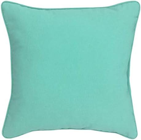 BrylaneHome 16 Sq. Toss Pillow Patio Cushion, Breeze