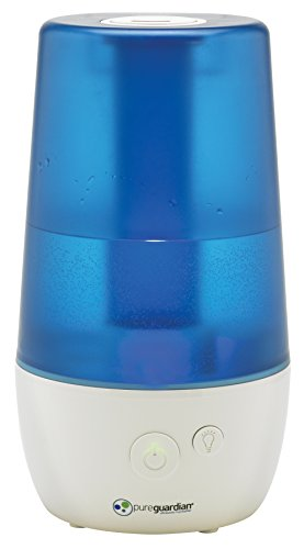 PureGuardian H965 Ultrasonic Cool Mist Humidifier for Bedrooms, Baby Nursery, Quiet, Filter-Free, 1 Gal Tank, 70 hr, Treated Tank Surface Resists Mold, Pure Guardian Humidifier with Essential Oil Tray (Ultrasonic Steam Humidifier)