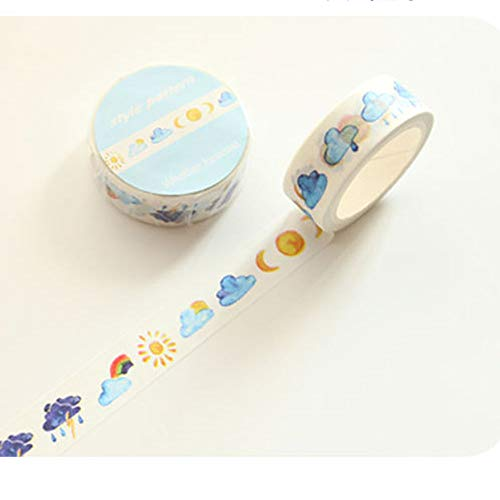 Washi Tape Skinny Colored Masking Tape with Cute Pattern Labelling Tape Graphic Art Tape Roll for Fun Great for DIY Decor Scrapbooking Sticker Masking Paper Decoration Tape Adhesive (Forest) by paway (Image #8)
