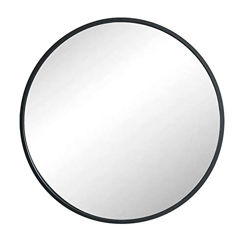 Huimei2Y Circle Mirror with Metal Frame, 15.7 Inch Round Wall Mirror for Entryway, Living Room, Bathroom & Bedroom (Black) (Wall Mirror Black Round)