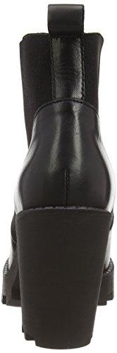 PIECES Psuzza Leather Boot Chelsea Black Noos - Botas de cuero para mujer negro - negro