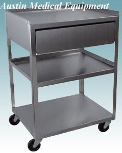 Amazoncom 3 Tier New Stainless Steel Cart With Drawer From Ame