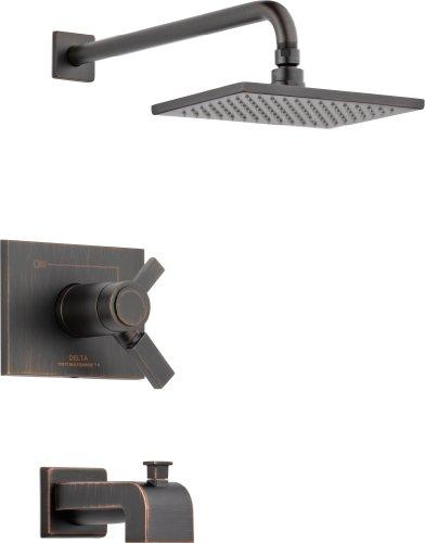 - Delta Faucet T17T453-RB Vero TempAssure 17T Series Tub and Shower Trim, Venetian Bronze