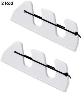 product image for 4 ROD HOLDER with Bungi & Bracket, White