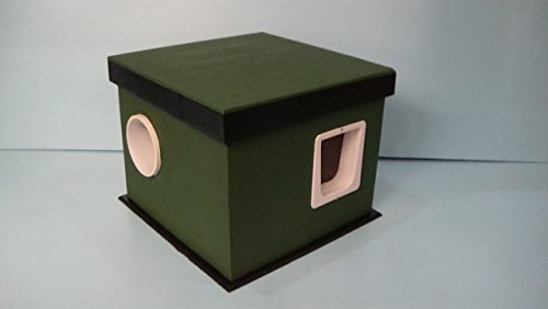 Heated Feral Cat House by STABOB'S HANDCRAFTED PET HOUSES