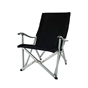 CRAZY SALES Aluminium Portable Folding Luxury Comfort Chair BLACK | Camping Chair | Outdoor Chair | Backyard | Caravan…