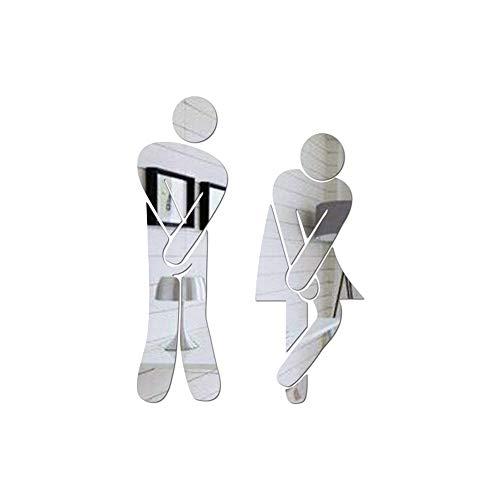 KUUCOL Crossed Legs Funny Bathroom Toilet Acrylic Adhesive Backed Men
