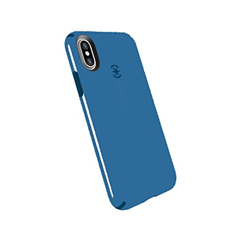 Speck Products Compatible Phone Case for Apple iPhone XS and iPhone X, CandyShell Case, Cobalt Blue/Harbor Blue