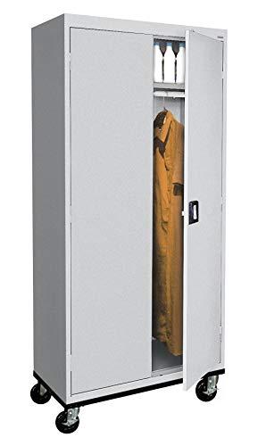 (Sandusky Lee TAWR462472-05 Transport Series Mobile Wardrobe Storage Cabinet, Dove Gray)