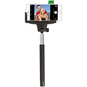 The Original #SelfieStick by ReTrak Wired Built-In (No Battery, Bluetooth, App, Wifi Needed) Lifetime Warranty! Fits all phones
