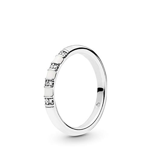 PANDORA Exotic Stones and Stripes 925 Sterling Silver Ring, Size: EUR-60, US-9-198052CZ-60