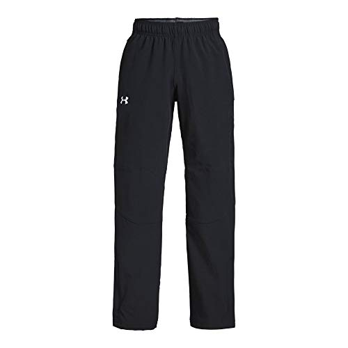 (Under Armour Boys Hockey Warm Up Pants, Black (001)/White, Youth Small)
