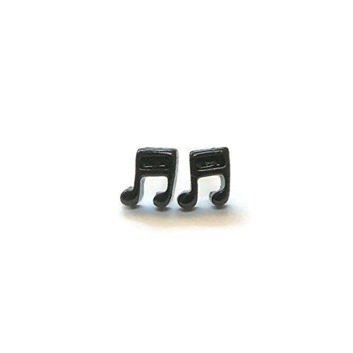 Music Note Studs, Hypoallergenic Plastic Post Earrings Metal Sensitive Ears