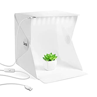 Zecti Photo Light Box, Light Tent with Black and White Backdrop for Smartphone and DSLR Photo Tent for Photography 20cm x 20cm/9.4 x 9.4 Inch