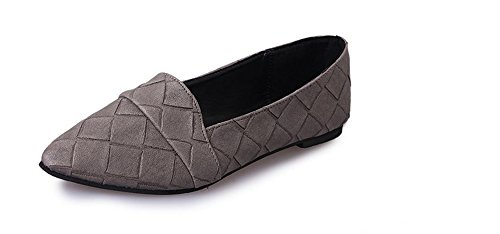 Grey Ballet Flat Pointy Women's Classic BeautyOriginal Toe Shoes wPxUpB1pZq
