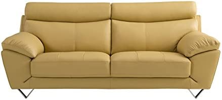 American Eagle Furniture Valencia Modern Italian Leather Living Room Sofa