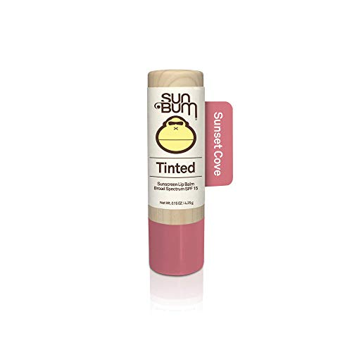 (Sun Bum Tinted Lip Balm Sunset Cove|SPF 15|UVA / UVB Broad Spectrum Protection|Sensitive Skin Safe|Hypoallergenic,Paraben Free|Ozybenzone Free|0.15 Oz)