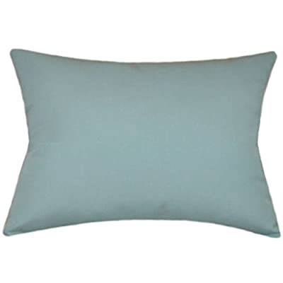 TPO Design Sunbrella Mineral Blue Indoor/Outdoor Solid Patio Pillow 12x18 Rectangle: Home & Kitchen