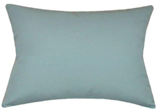 TPO Design Sunbrella Mineral Blue Indoor/Outdoor Solid Patio Pillow 12x18 Rectangle