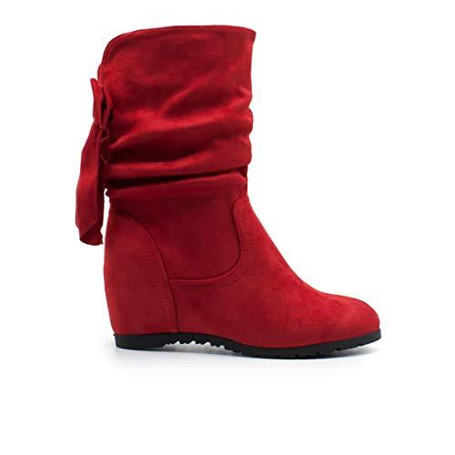 Con Color Rojo Mujer W860 Tacon Zapshop Para Invisible De Bota gnEwPqYp