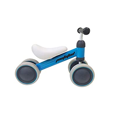 MotoTod Mini Baby and Toddler Balance Bike, No-Pedal, for Ages 10 Months, 12 Months, 1 Year to 2 Years, Blue: Toys & Games