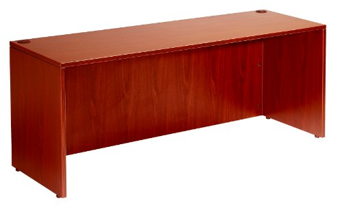 Boss Office Products Holland 71 Executive L-Shape Corner Desk with File Storage Pedestal, Cherry
