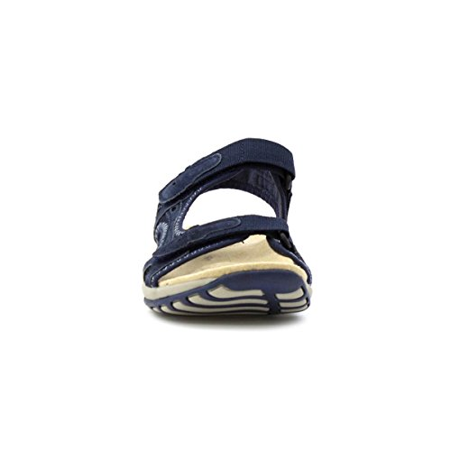 Earth Spirit Womens Navy Leather Sporty Sandal Blue cxKu1bQHS
