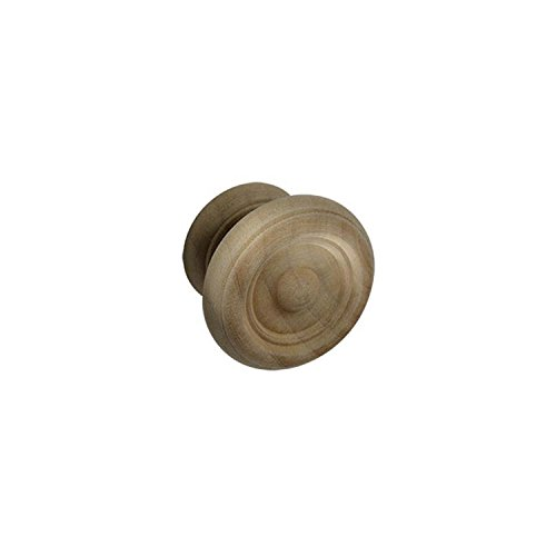 - #927-C 1-3/4 in. CKP Brand Unfinished Cherry Wood Knob - 10 Pack