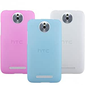 Snow Jade Clear Anti-finger Matte Protective Case For HTC-E1 603e --- Color:Pink