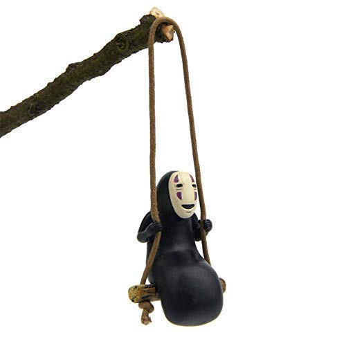 - Paul Bec Spirited Away No Face Man Figure Figurines Swing Anime Toy Home Gardening Decor Micro Landscape Decoration Ornaments Resin Crafts Doll